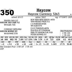 Lot 350 - Haycow Currency 3263 - Haycow