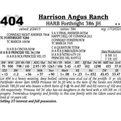 Lot 404 - HARB Forthright 386 JH - Harrison Angus Ranch