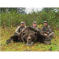10-DAY SPRING BROWN BEAR HUNT IN ALASKA FOR 1 HUNTER