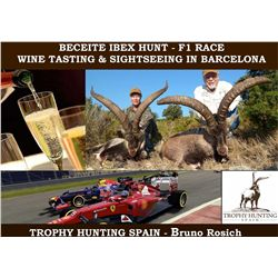 3-DAY BECEITE IBEX HUNT AND 2-DAYS OF FORMULA 1 RACE & WINE TASTING/SIGHTSEEING AROUND BARCELONA, SP