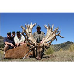 5-DAY NEW ZEALAND RED STAG HUNT FOR 2 HUNTERS SCORING UP TO 360 SCI