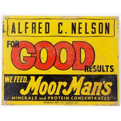 Alfred C. Nelson MoorMan's Advertising Sign