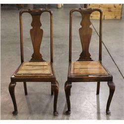 Queen Anne Civil War Era Chairs