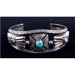 1947 Navajo Turquoise & Silver Bracelet