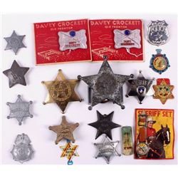 Vintage Western Toy Badge Collection