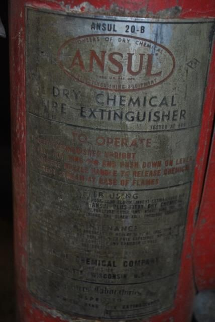 Large vintage fire extinguisher by Ansul