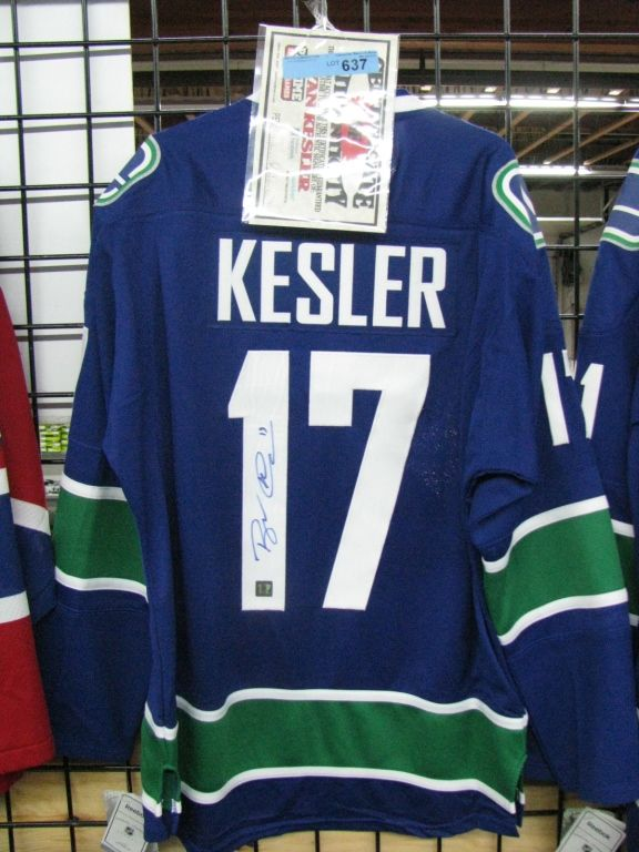 on sale 75200 21ff8 Ryan Kesler Jersey (Autographed)