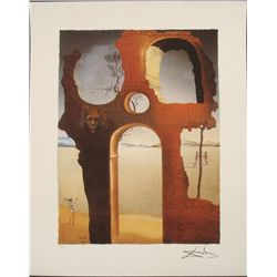 Salvador Dali : Invisible Face Surrealistic Art Print