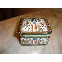 French hand painted box signed by artist