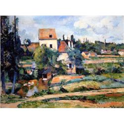 Mill On The Couleuvre Near Auvers By Cezanne Canvas