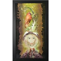 Endre Szasz Art Print The Red Bird -Framed