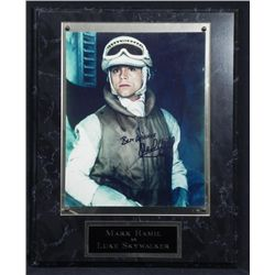 Mark Hamill Signed Photo Plaque Empire Strikes Back-COA