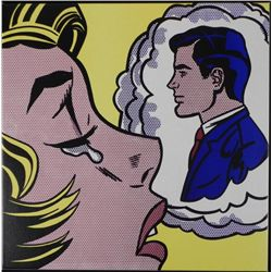 Thinking of Him Roy Lichtenstein Print Canvas Art