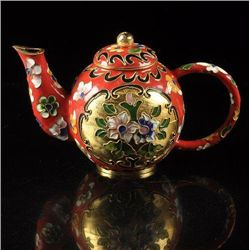 Lovely Asian cloisonne teapot