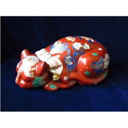 Chinese porcelain figurine of a cat