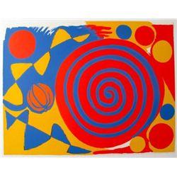 SPIRALE AVEC CITROUILLE 1973 Lithograph By Calder