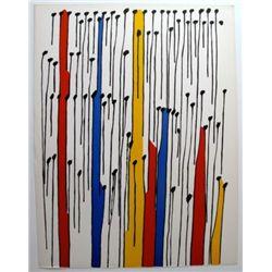Magic Winds-Original Lithograph by Calder