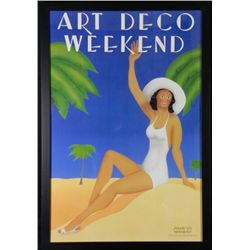 Art Deco Weekend Poster by Woody Vondracek, Framed