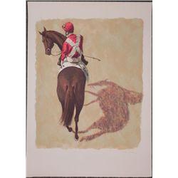 Henry Koehler Signed Artist Proof Print Horse Racing
