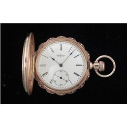 1884 Elgin 14K Gold Antique HC Pocket Watch