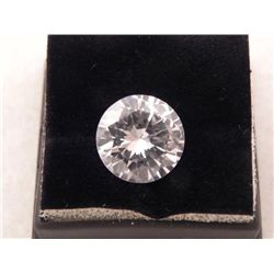 HUGE SPARKLING 13.20 CT ROUND CUT SYNTHETIC DIAMOND
