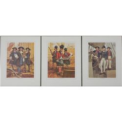 3 Tom McNeely Military Art Prints 17th-19th Century