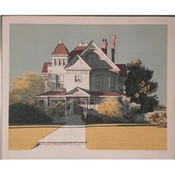 Merv Corning Signed Artist Proof Print Miramar House