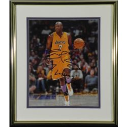 Lamar Odom Signed Lakers #7 NBA Photo Framed