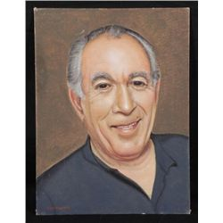 Ken Maund Original Painting -Anthony Quinn, Zorba Greek