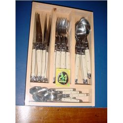 Set 24 pieces French Laguiole knives spoons forks