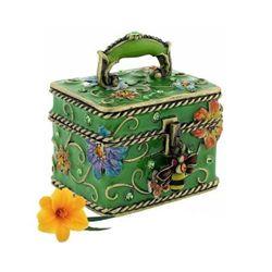 Decorative Floral Trinket Box