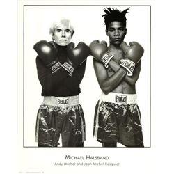 Michael Halsband Warhol and Jean Basquiat Rare Poster