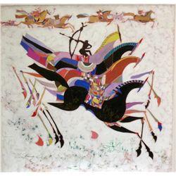 Li Zhong-Liang, Horses, Signed Giclee on Canvas