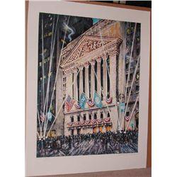 Kamil Kubik, NY Stock Exchange, Signed Serigraph