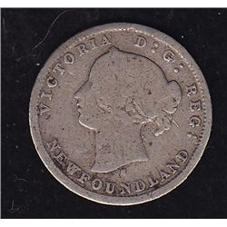 1873H Newfoundland Five Cent