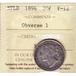 1894 Newfoundland Twenty Cent