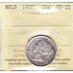 1900 Newfoundland Twenty Cent