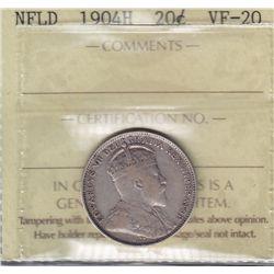 1904H Newfoundland Twenty Cent
