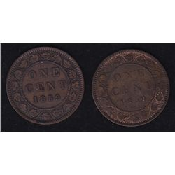 Lot of 2 1859 One Cent