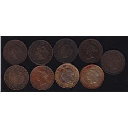 Lot of 9 One Cent
