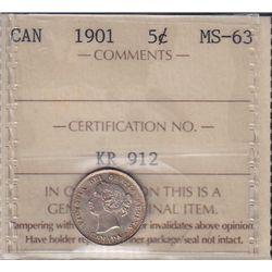 1901 Five Cent
