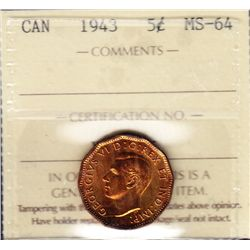 1943 Five Cent Tombac
