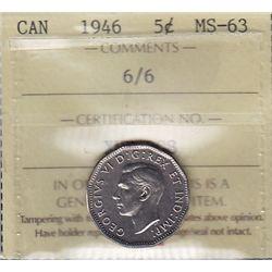 1946 Five Cent