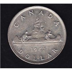 1947 Blunt Silver Dollar