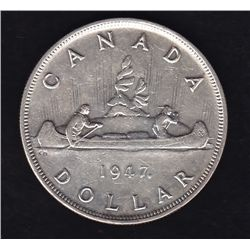 1947 Maple Leaf Silver Dollar