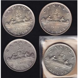 Lot of 4 Silver Dollars