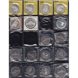 Lot of 35 Silver and Nickel Dollars