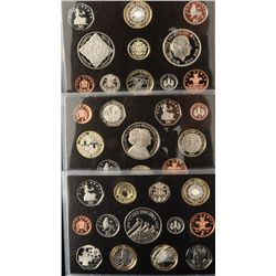 Lot of 5 British Proof Sets