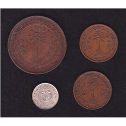 Lot of 4 Ceylon Coins