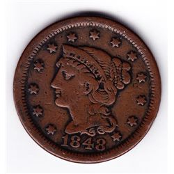1848 USA One Cent